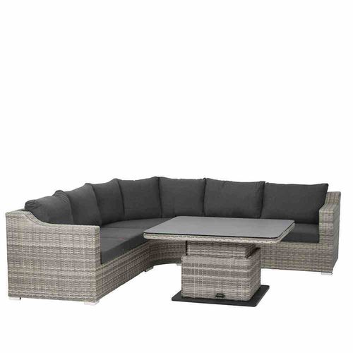 "Lounge-Geflecht-Garnitur ""Orion"" - Naturoptik Grey - komplett"